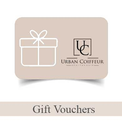 gift vouchers at Urban Coiffeur Hair Salon in Wolverhampton.