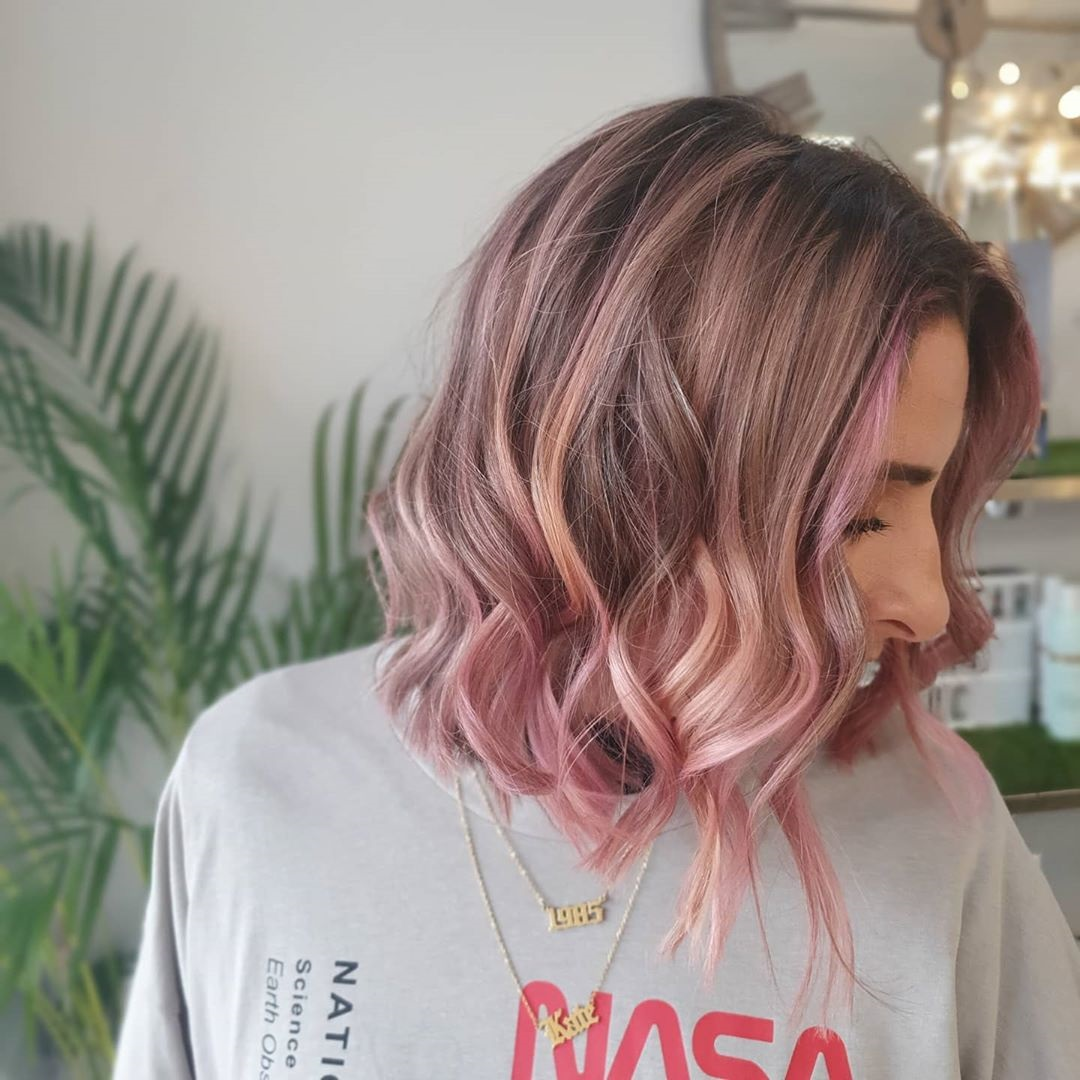 dusty-pink-balayage-hair-colours-at-top-wolverhampton-hairdressers